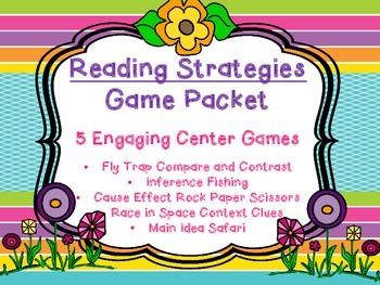 Reading Strategy Literacy Center Games 5 games Compare Con