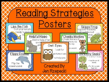 Reading Strategy Posters-Criss Cross Borders