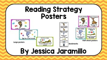 Reading Strategy Posters by Jessica