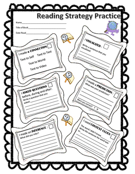 Reading Strategy Practice Worksheet