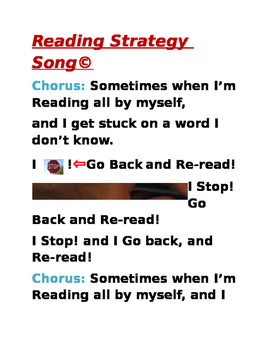 Reading Strategy Song