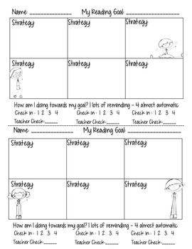 Reading Strategy Student Goal Handout