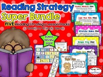 Reading Strategies Super Bundle: 5 Strategy Packs Plus Bon