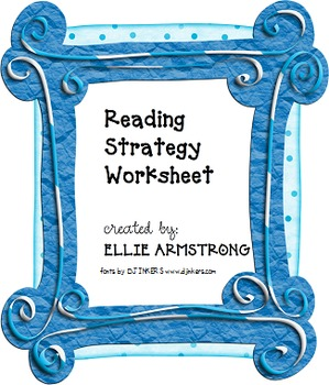 Reading Strategy Worksheet
