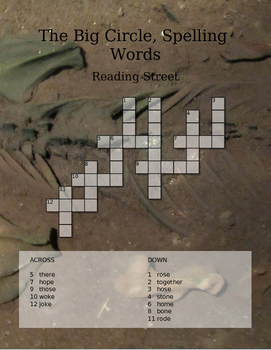 Reading Street 1st Grade Spelling Words- Word Search- The