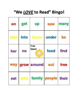 Reading Street 1st grade Unit 1 and 2 Bingo