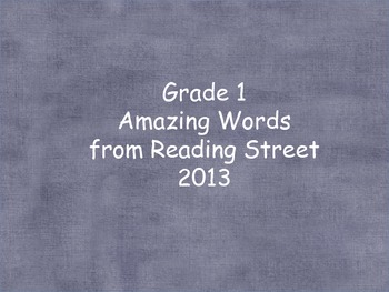 Grade 1 Amazing Words (word cards) Units 1-5 for Reading S