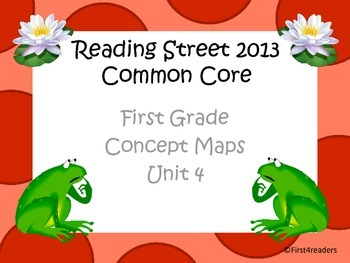 Reading Street 2013 Unit 4 Concept Maps