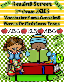Reading Street {2013} Vocabulary and Amazing Words Tests 2