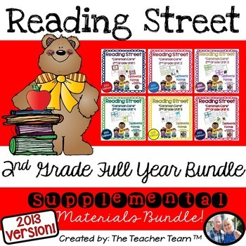 Reading Street 2nd Grade Common Core Unit 1-6 Full Year Bu