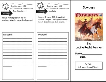 Reading Street 2nd Grade Cowboys Trifold