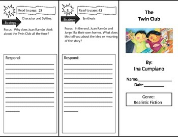 Reading Street 2nd Grade The Twin Club Trifold
