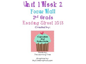 Reading Street 2nd Grade Unit 1 Week 2 Focus Wall