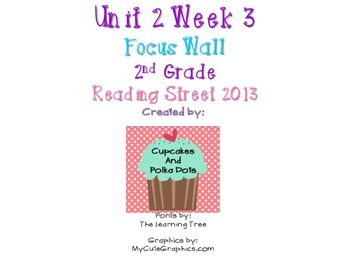 Reading Street 2nd Grade Unit 2 Week 3 Focus Wall
