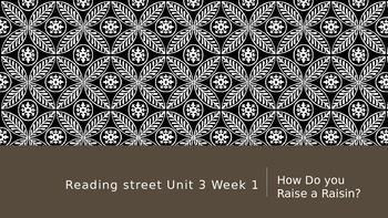 Reading Street 3rd Grade Unit 3 Lesson 1 How Do You Raise