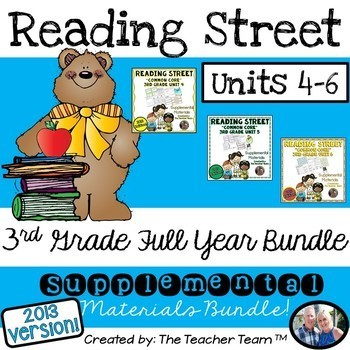 Reading Street 3rd Grade Unit 4-5-6 Half Year Bundle 2013