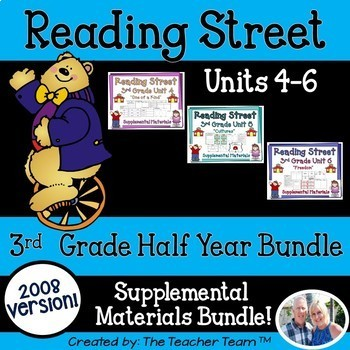 Reading Street 3rd Grade Unit 4-5-6 Bundle Supplemental Materials