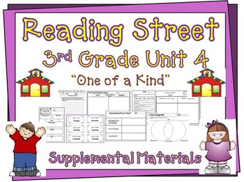 "Reading Street 3rd Grade Unit 4 ""One of a Kind"" Supplement"