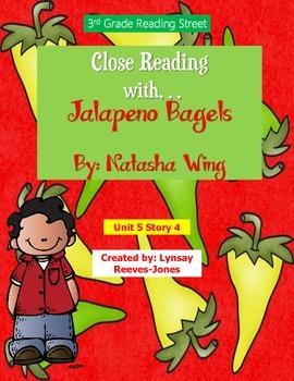 Reading Street 3rd Grade Unit 5 Story 4 Jalapeno Bagel Close Read