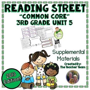 Reading Street 3rd Grade Unit 5 Supplemental Materials 2013