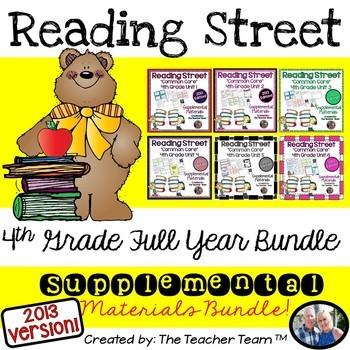 Reading Street 4th Grade Common Core Unit 1-6 Full Year Bu