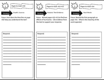 Reading Street 4th Grade Eye of the Storm Trifold
