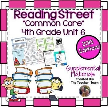 Reading Street 4th Grade Unit 6 Supplemental Materials 2013