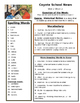 Reading Street 4th grade Unit 2 Review sheets
