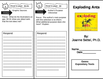 Reading Street 5th Grade Exploding Ants Trifold