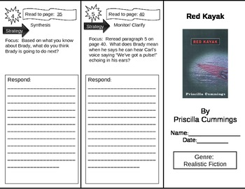 Reading Street 5th Grade Red Kayak Trifold