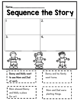 Reading Street, A Place to Play, Sequencing