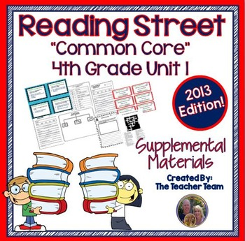 Reading Street 4th Grade Unit 1 Supplemental Materials 2013