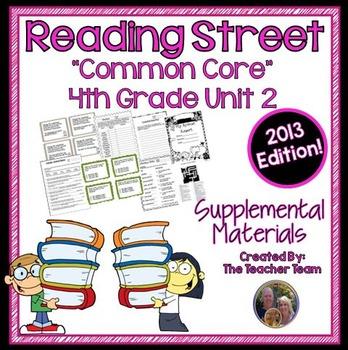 Reading Street 4th Grade Unit 2 Supplemental Materials 2013