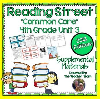 Reading Street 4th Grade Unit 3 Supplemental Materials 2013