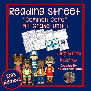 Reading Street 5th Grade Unit 1 Supplemental Materials 2013