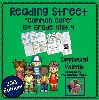 Reading Street 5th Grade Unit 4 Supplemental Materials 2013