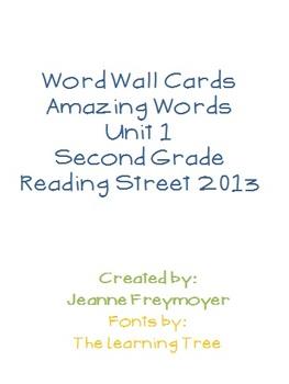 Reading Street Amazing Word Wall Unit 1