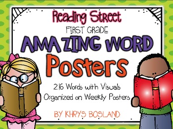 Reading Street Amazing Words - First Grade {Weekly Posters