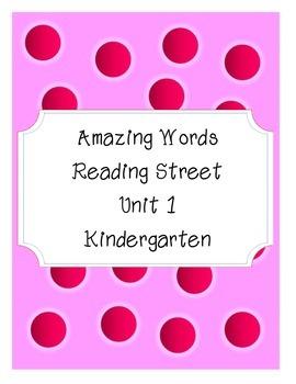 Reading Street Amazing Words-Kindergarten-Unit 1 (Pink Polka Dot)