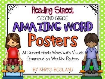 Reading Street Amazing Words - SECOND Grade {Weekly Poster