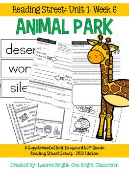 Reading Street- Animal Park Supplemental Unit {Unit 1: Week 6}