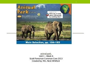 "Reading Street ""Animal Park"" Weekly PowerPoint"