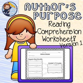 Reading Street Author's Purpose Sheet