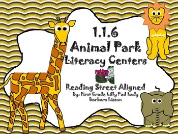 Reading Street Centers and Printables  (Animal Park)