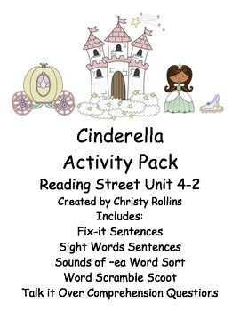 "Reading Street ""Cinderella"" Activity Pack"
