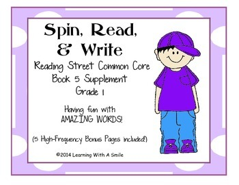Reading Street Common Core AMAZING Word Game ~ Spin, Read,