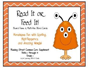 Reading Street Common Core – Amazing, HF, Spelling Word Ga