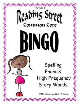 Reading Street Common Core – Bingo-Style Game  – Unit 5 – Grade 1