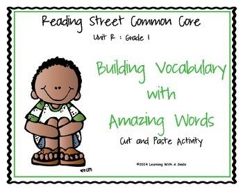 Reading Street First Grade Amazing Word Cut & Paste Unit R