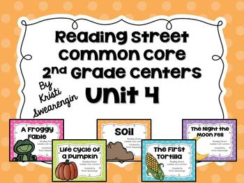 Reading Street Common Core Centers Unit 4 (Second Grade)